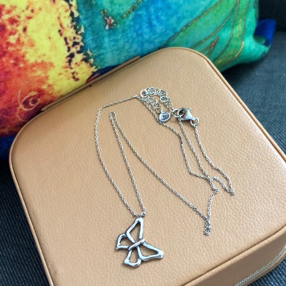 Butterfly Sterling Silver Necklace Silpada
